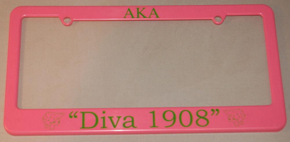Black Greek Diva And Centennial License Plate Frames
